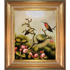 Ruby Throated Hummingbird Canvas Art