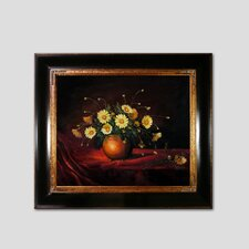 Yellow Daisies in a Bowl Canvas Art