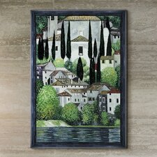 Church in Cassone (Landscape with Cypress) Canvas Art