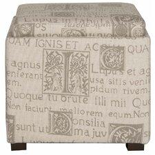 Villa Script Storage Ottoman