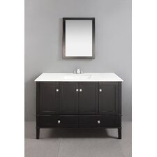 "<strong>Simpli Home</strong> Chelsea 48"" Single Bathroom Vanity Set"