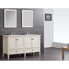 "Chelsea 61"" Double Bathroom Vanity Set with Mirror"