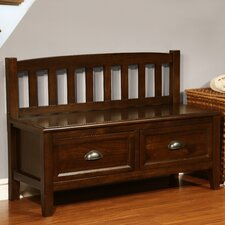 Burlington Wood Storage Entryway Bench with Drawers