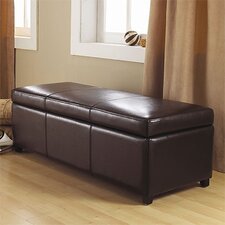 <strong>Simpli Home</strong> Avalon Large Rectangular Storage Ottoman