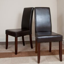 <strong>Simpli Home</strong> Acadian Parsons Chair (Set of 2)