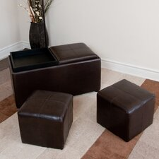 <strong>Simpli Home</strong> Avalon Storage Cube Ottoman (Set of 3)