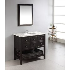 "Burnaby 37"" Single Bathroom Vanity Set with Mirror"