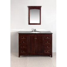 "<strong>Simpli Home</strong> Yorkville 48"" Single Bathroom Vanity Set"