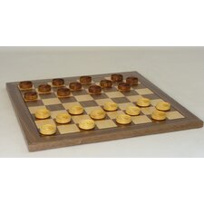 "14"" Wood Checker Set"