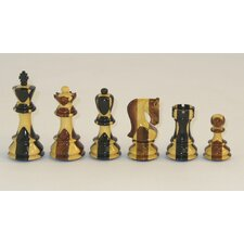 Russian Ebony Inlaid Chessmen