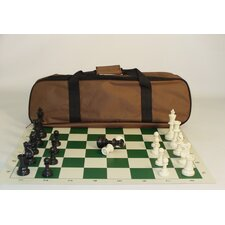 <strong>CN Chess</strong> Tournament Set with Brown Canvas Tote