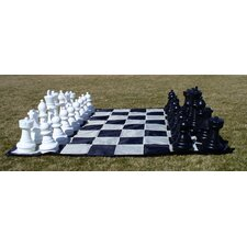 Garden Chessmen on Mat