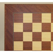 "18"" Veneer Chess Board in Mahogany / Maple"