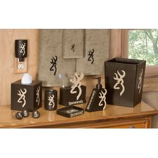 Shower Curtain Hooks in Tan / Brown