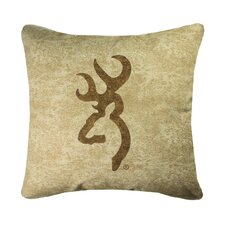 <strong>Browning</strong> Buckmark Square Logo Pillow