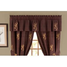 "Buckmark Rod Pocket Tailored 63"" Curtain Valance"