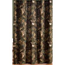Camo Deer Cotton Shower Curtain