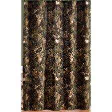 Camo Deer Cotton Shower Curtain