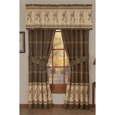 Buckmark Lined Rod Pocket Drape Panels (Set of 2)