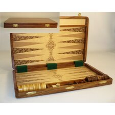 Etched Wood Backgammon Board Game