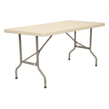 "60"" x 30"" Blow-Molded Folding Table"