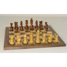 "Small Sheesham French-14"" Walnut Chess Board"