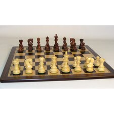 Rosewood Old Russian-Ebony Birdseye Chess Set