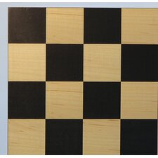"<strong>WorldWise Chess</strong> 15.5"" Black / Maple Basic Chess Board"