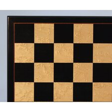 "<strong>WorldWise Chess</strong> 17"" Black and Birdseye Maple Veneer Chess Board"