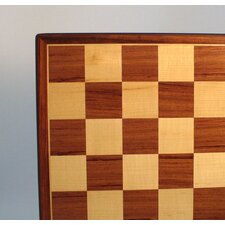 "17"" Padauk and Maple Veneer Chess Board"