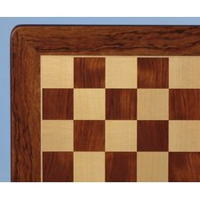 "21"" Padauk and Maple Veneer Chess Board"