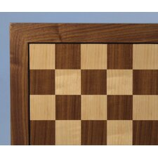 "<strong>WorldWise Chess</strong> 14"" Walnut / Maple Veneer Chess Board"