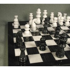 <strong>WorldWise Chess</strong> Marble Chess Set in Black / White