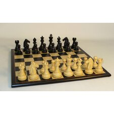 Black Mustang on Black Birdseye Chess Board