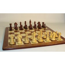 <strong>WorldWise Chess</strong> Rosewood Camelot on Padauk Chess Board