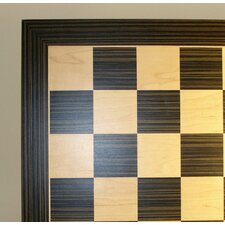 "14"" Ebony and Maple Veneer Chess Board"