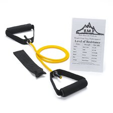 <strong>Black Mountain Products</strong> Single Resistance Band with Door Anchor and Starter Guide