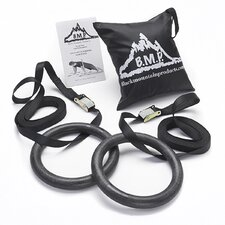 <strong>Black Mountain Products</strong> Multi-Use Gymnastics Rings (Set of 2)