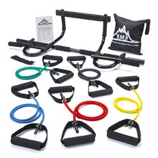 <strong>Black Mountain Products</strong> Chin Pull Up Bar and 5 Resistance Bands