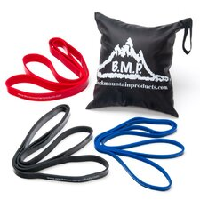 <strong>Black Mountain Products</strong> 5 Piece Cross Fit Resistance Band Set