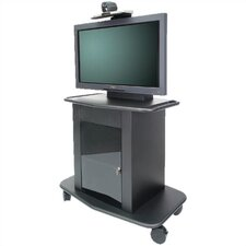 "Plana Series 42"" Tall Metal Plasma Cart - Holds a 42"" Screen"