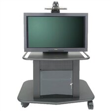 "Plana Series 32"" Tall Metal Plasma Cart - Holds a 42"" Screens"