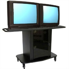 "Sabio Series 42"" Tall Cart - Holds up to two 32"" monitors"