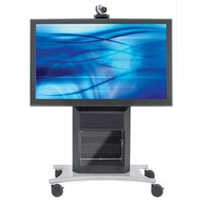 Executive Video Conferencing Stand with Extra Cabinet Depth
