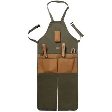 Garden Apron in Khaki and Olive Green