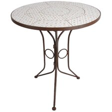 Botanicae Round Forged Steel Ceramic Dining Table