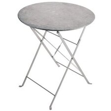Herb Round Zinc Bistro Table