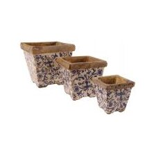 Aged Ceramic Flower Pot (Set of 3)
