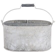 Old Zinc Oval  Basket