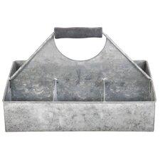 Old Zinc Square Basket